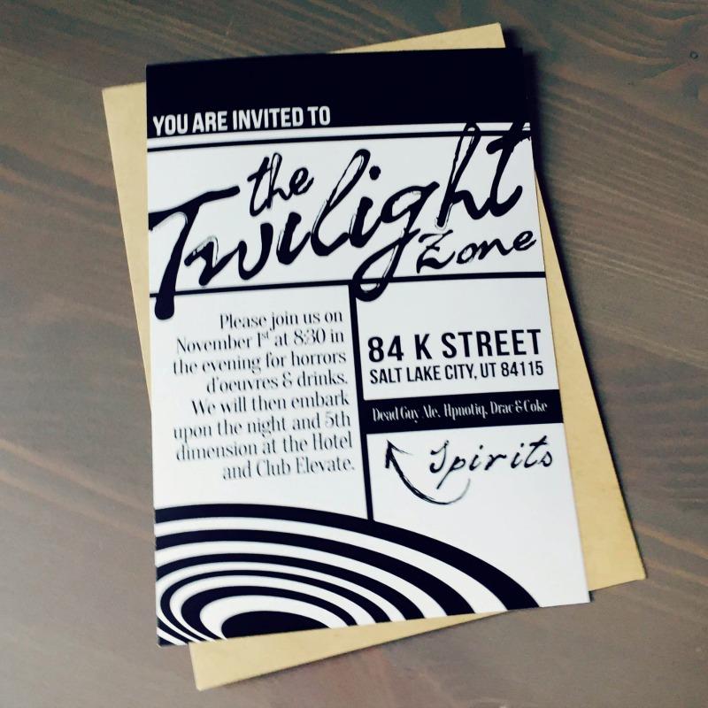 twilight zone party invitation