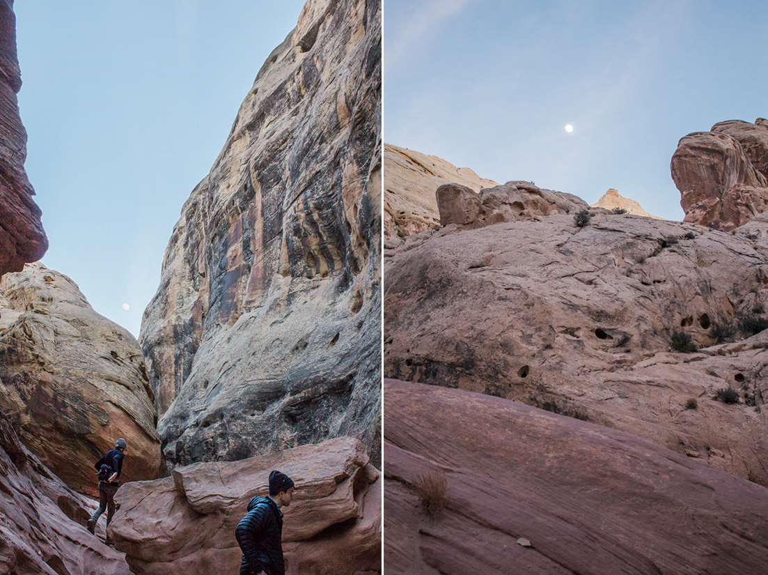 Slot Canyon Hike Moon